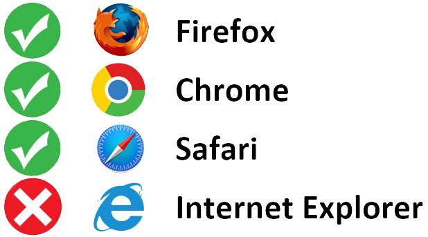 Browser Compatibility - Use Chrome, Firefox, or Safari